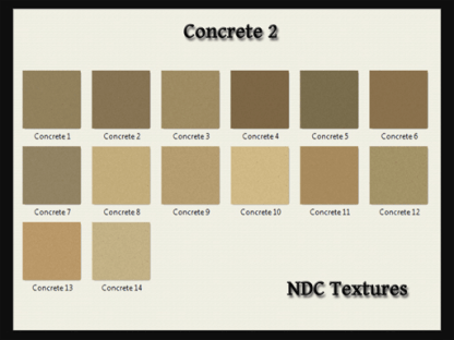 [Immersive Digital] NDC-T037 Concrete 2 Texture Pack Contact Sheet