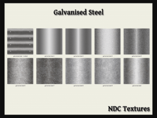 Galvanised Steel Texture Pack by NDC Textures