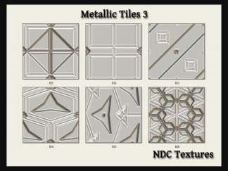 Metallic Tiles 3 Texture Pack by NDC Textures
