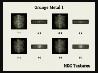 [Immersive Digital] NDC Textures NDC-T088 Grunge Metal 1 Contact Sheet