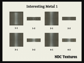 [Immersive Digital] NDC-T090 Interesting Metal 1 Texture Pack Contact Sheet