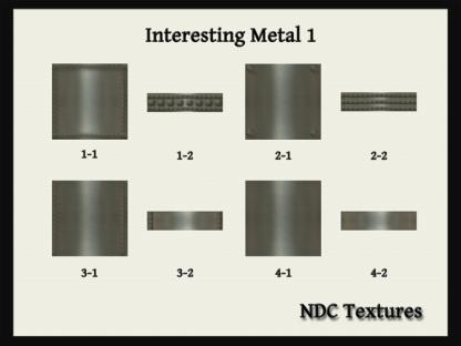 [Immersive Digital] NDC-T090 Interesting Metal 1 Texture Pack Contact Sheet