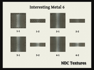 [Immersive Digital] NDC-T095 Interesting Metal 6 Texture Pack Contact Sheet