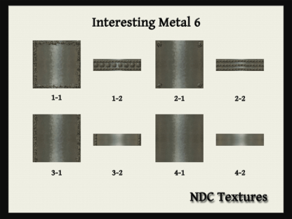 Interesting Metal 6 Texture Pack by NDC Textures