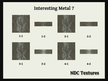 [Immersive Digital] NDC-T097 Interesting Metal 7 Texture Pack Contact Sheet