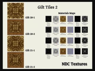 [Immersive Digital] NDC Textures Gilt Tiles 2 Contact Sheet