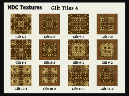 Gilt Tiles 4 Texture Pack by NDC Textures