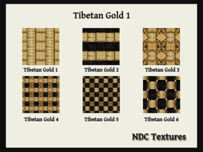 Tibetan Gold 1 Texture Pack by NDC Textures