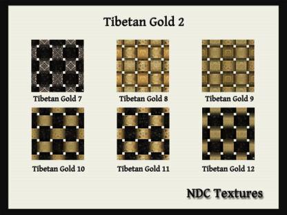 [Immersive Digital] NDC Textures Tibetan Gold 2 Contact Sheet