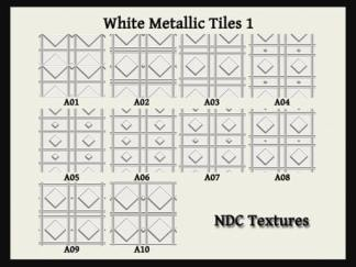 White Metallic Tiles 1 Texture Pack by NDC Textures