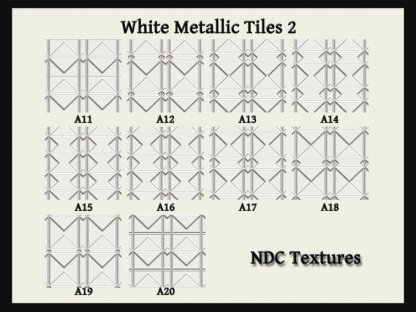 White Metallic Tiles 2 Texture Pack by NDC Textures