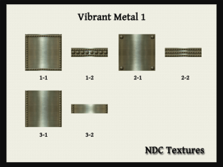 NDC-Textures Contact Sheet Vibrant Metal 1
