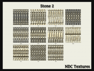 [Immersive Digital] NDC-T065 Stone 2 Texture Pack Contact Sheet