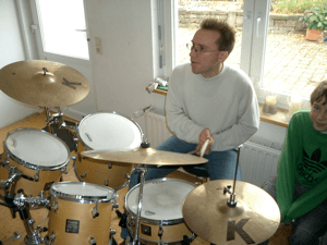 immi on the drums