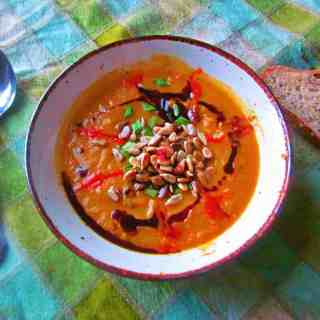 Roasted squash and carrot soup