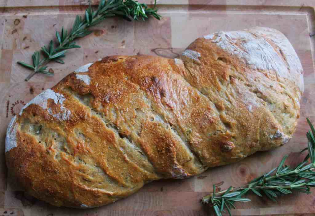 Italian sourdough bread with rosemary