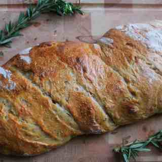 Italian-style golden rosemary sourdough bread, or why you should eat bread when you're out of cake