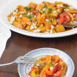 Roasted bell pepper salad, or the dish that made me like my job