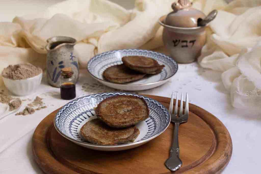 Russian buckwheat pancakes syrniki