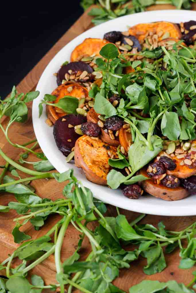 Blog151_Img1_Sweet potato and beet salad with watercress and salad topper lite