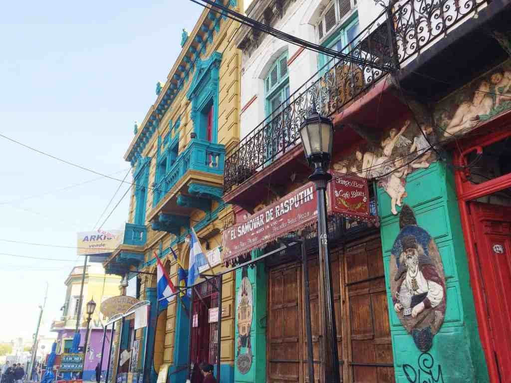"""Stepping off the bus on the main street of La Boca was like getting punched in the face by a storm of colours"" -The young Jewish travel guide to Argentina"
