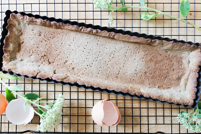 This walnut and buckwheat caramel tart is a perfect pairing of sweet and salty flavours, and crispy and silky textures. Gluten-free, dairy-free.