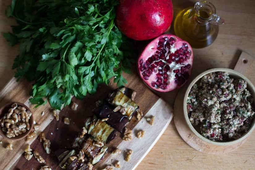 Middle Eastern Small Plates Recipes Preview: Eggplant rolls
