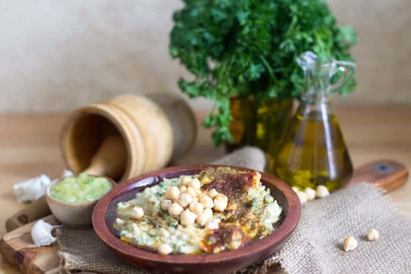 Middle Eastern Small Plates Recipes Preview: Hummus mesabacha