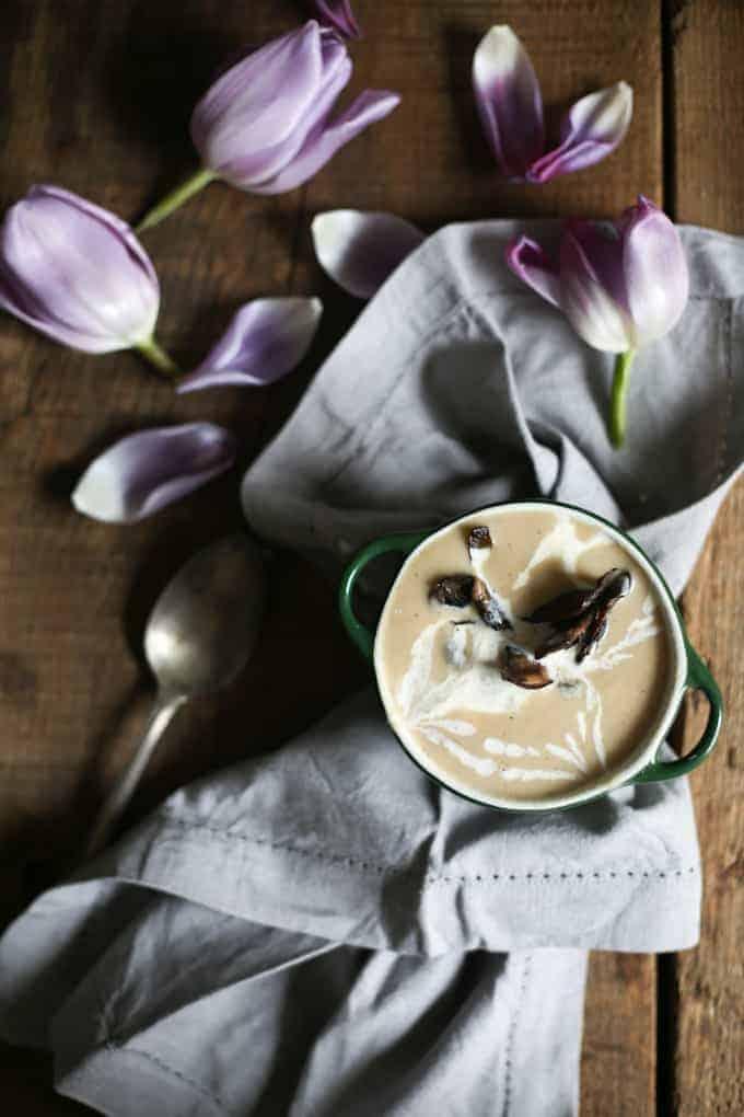 Belgian endive soup {vegan, gluten-free}