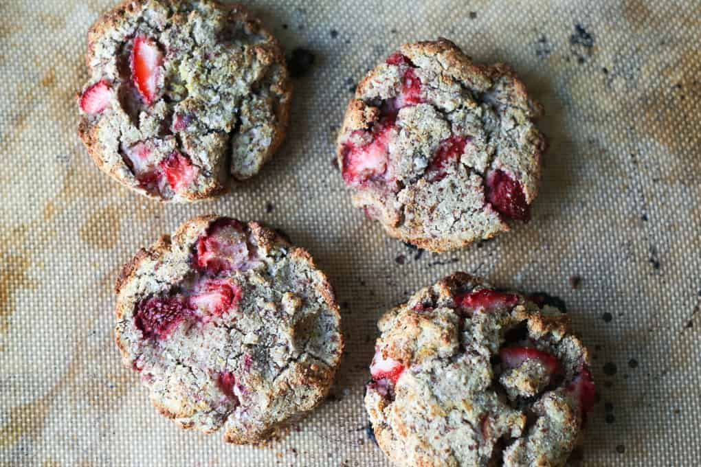 Paleo strawberry scones