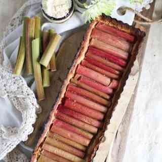 Paleo honey rhubarb tart {GF, P}