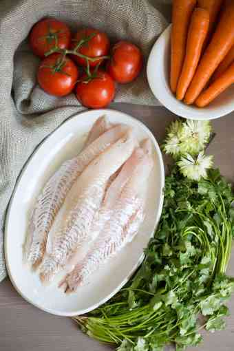 Cold haddock in carrot lemon sauce