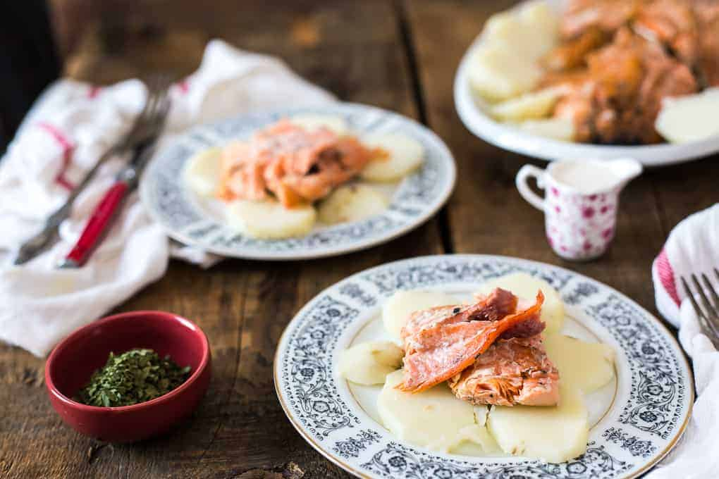 German fire grilled salmon