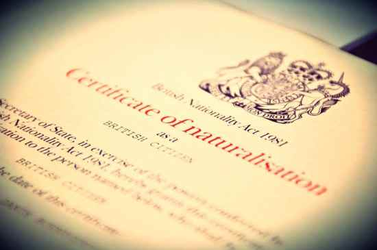 British Naturalisation