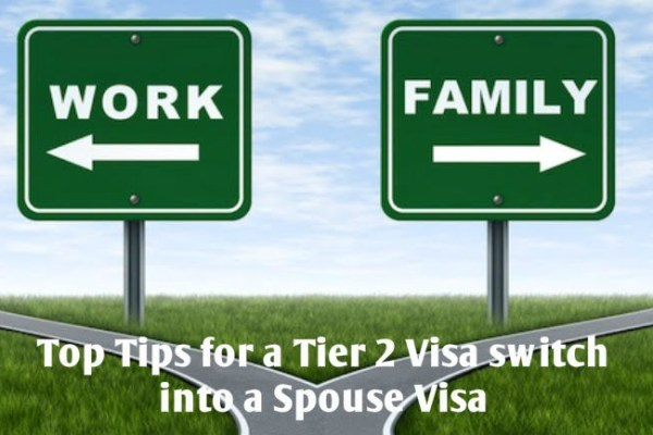 Top Tips for a Tier 2 Visa switch into a Spouse Visa