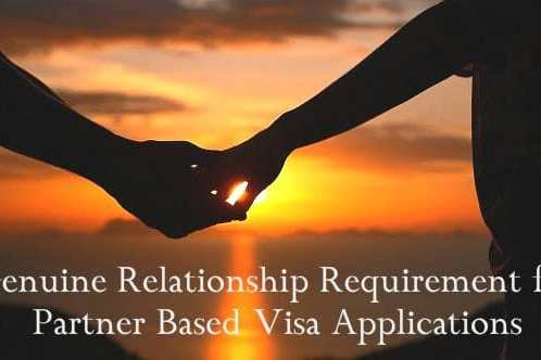 Satisfying the Genuine Relationship Requirement for Partner Based Visa Applications