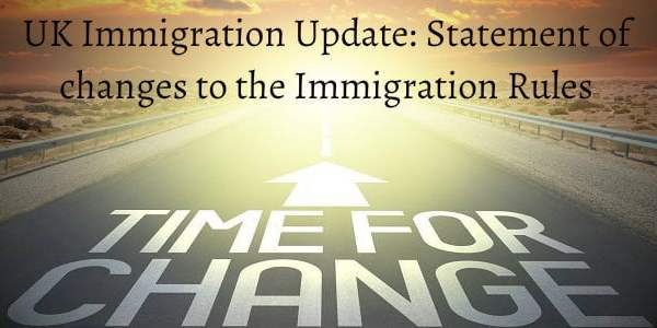UK Immigration Update: Statement of changes to the Immigration Rules December 2018