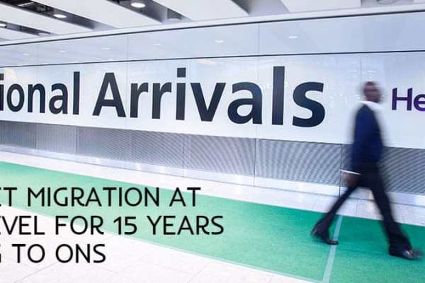 Non-EU Net Migration at highest level for 15 years according to ONS