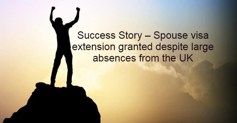 Success Story Spouse visa extension application