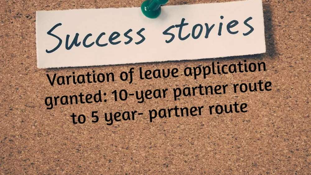 Variation of leave success story LEXVISA Best Immigration Lawyers London