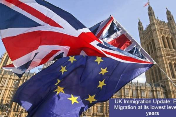 UK Immigration Update: EU Net Migration at its lowest level in 16 years