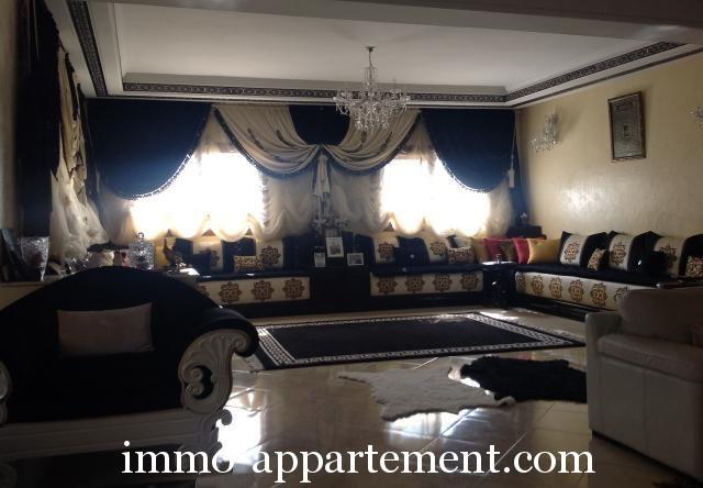 Salon marocain  Appartement bien meubl  knitra