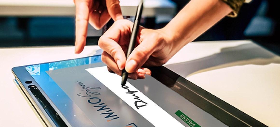 Signature spéciale sur tablette ImmoSign