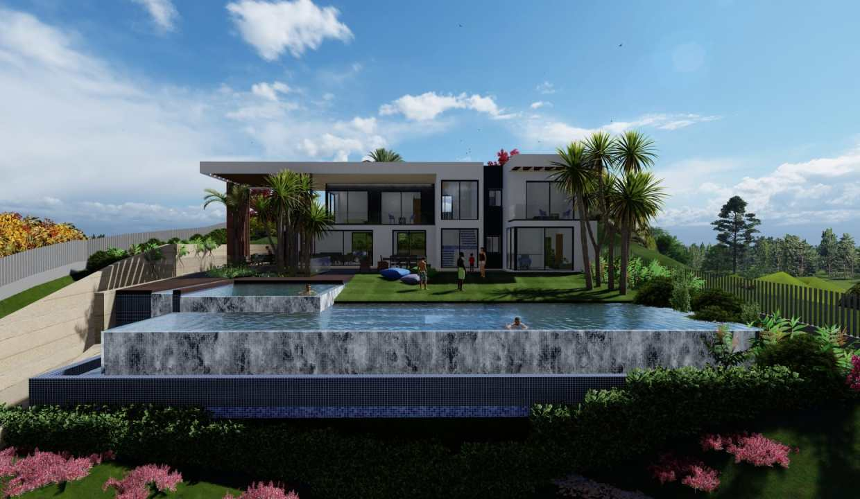 Villas au style architectural contemporain0