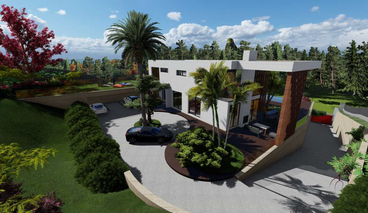 Villas au style architectural contemporain1