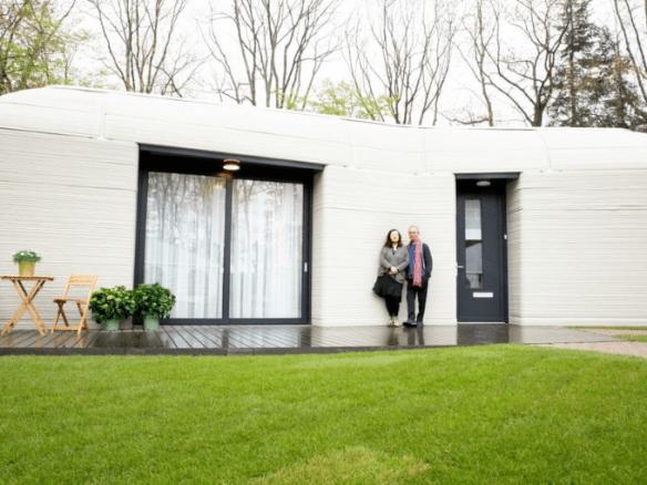Un couple hollandais devient le premier habitant européen d'une maison imprimée en 3D