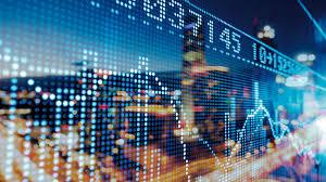 tableau lumineux sur l'évolution de la bourse