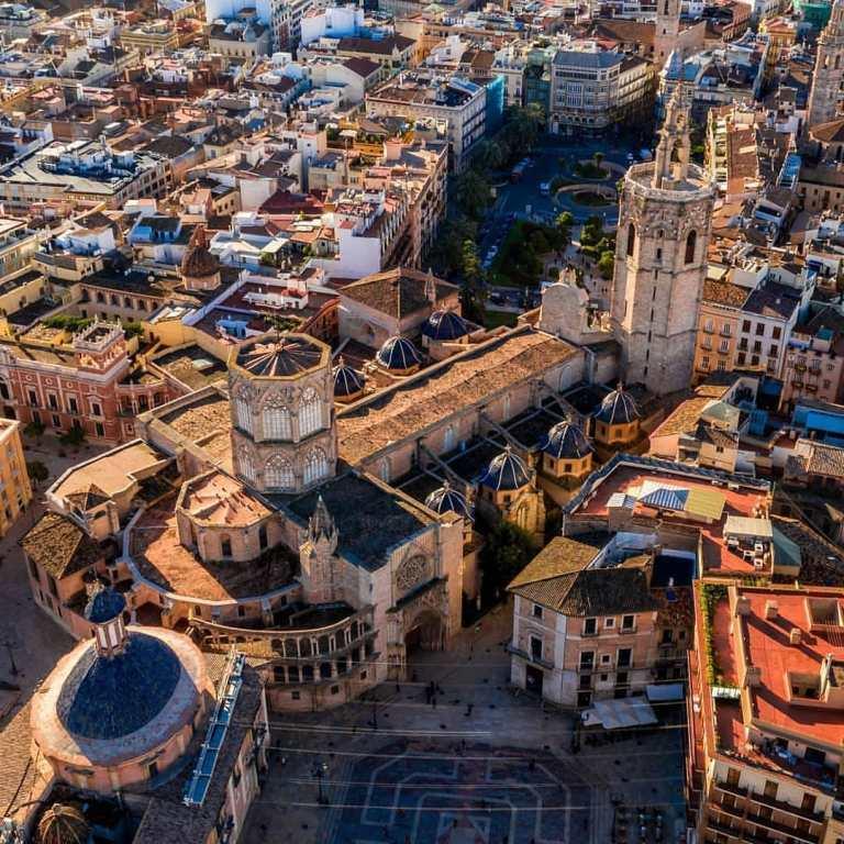Valence vue du ciel