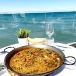 paella sur le bord de mer