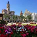 place de la mairie fleurie